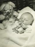 Baby Sleeping in Crib  Close-Up