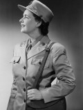 Woman Wearing Military Uniform