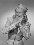 Studio Portrait of Flight Attendant