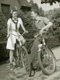 Girl and Boy on Bikes