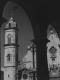 Church Seen Through Arches (B&W)