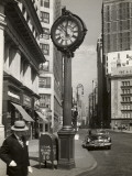 A Street Clock on Fifth Ave  NYC