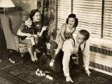 Family Playing Indoors