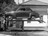 Automobile in Repair Shop