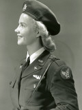 Woman in World War Ii Military Uniform