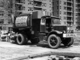 Concrete Truck on Site of Construction