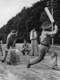 Troops Play Cricket