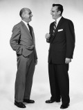Two Men Talking and Laughing