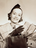 Woman Holding Shopping Parcels and Bag