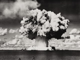Nuclear Bomb Explosion  Baker Day Test  Bikini  25th July 1946