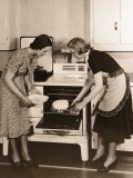 Two Women Baking in Kitchen