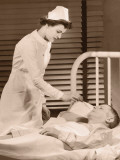 Nurse Taking Male Patients Temperature