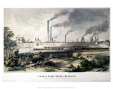 View on the Midland Railway  Cyclops Steel Works  Sheffield  c1845
