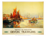 Service to Industry  Devon Trawlers  BR (WR)  c1950