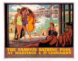 The Famous Bathing Pool at Hastings and St Leonards  LMS  c1920s
