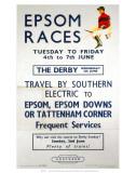 Epsom Races  BR  c1957
