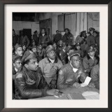 Tuskegee Airmen Attend a Briefing in Ramitelli  Italy  March 1945