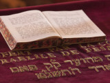 Hebrew Bible in Fes Synagogue  Morocco