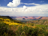 Castle Valley From La Sal Mountains With Fall Color in Valley  Utah  USA