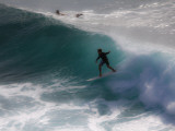 Surfing on Honolua Bay  Kapalua  Hawaii  USA