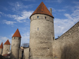 Old City Walls  Tallinn  Estonia