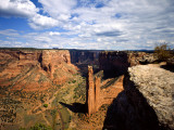Spider Rock at Junction of Canyon De Chelly and Monument Valley  Canyon De Chelly Ntl Monument  AZ