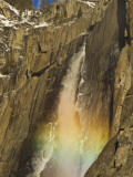 Rainbow on Upper Yosemite Falls in Yosemite National Park  California  USA