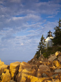 Bass Harbor Lighthouse in Acadia National Park  Maine  USA