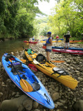 Kayaking on Kalihiwai Stream  Hawaii  USA