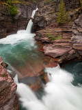 St Mary Falls  Glacier National Park  Montana  USA