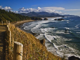 Coastline North of Cannon Beach  Ecola State Park  Oregon  USA