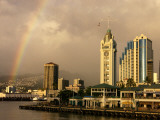 Rainbow Over Honolulu  Hawaii  USA