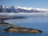 The Remarkables  Lake Wakatipu  and Queenstown  South Island  New Zealand