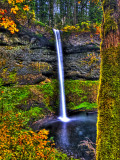 South Falls at Silver Falls State Park  Oregon  USA