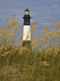 Lighthouse and Seaoats in Early Mooring  Tybee Island  Georgia  USA
