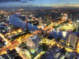 Cityscape at Dusk  Bangkok  Thailand