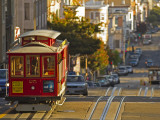 Cable Car on Powell Street in San Francisco  California  USA
