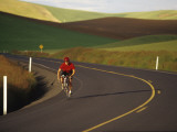 Road Bicycling in the Palouse Country Near Pullman  Washington  USA
