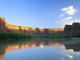 Cliffs at Sunrise Along Green River at Mineral Bottom  Utah  USA