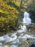 Moss Glen Falls in Autumn  Granvillie  Vermont  USA
