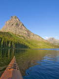 Kayaking on Two Medicine Lake in Glacier National Park  Montana  USA