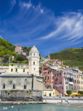 Harbor and Church of Vernazza  Cinque Terre  Italy