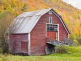 Barn in Vermont's Green Mountains  Hancock  Vermont  USA