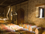 Window Light Streams Into Barrel Room at Hess Collection Winery  Napa Valley  California  USA