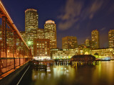 Boston Skyline at Dusk  Boston  Massachusetts  USA