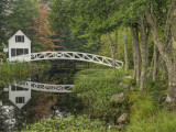 White Footbridge  Somesville  Mount Desert Island  Maine  USA