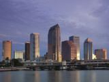 Skyline From Hillsborough Bay  Tampa  Florida  USA