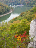 Kanawha River Overlook  Hawks Nest State Park  Anstead  West Virginia  USA
