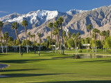 Desert Princess Golf Course and Mountains  Palm Springs  California  USA