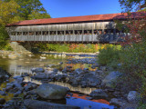 Albany Covered Bridge Over Swift River  White Mountain National Forest  New Hampshire  USA